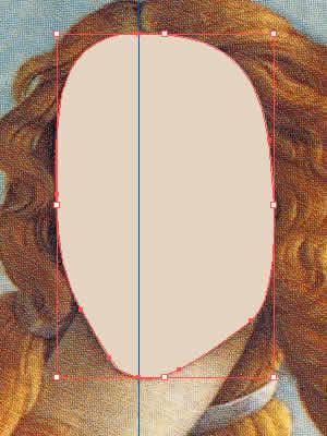 グラデーションメッシュ ビーナス 顔の輪郭